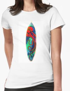 Jelly Fish Surfboard 1 Womens Fitted T-Shirt