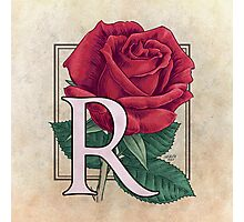 R is for Rose Photographic Print