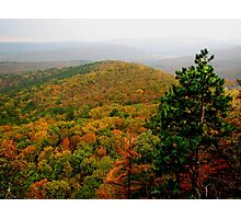 Arkansas Ozarks Rolling Hills Photographic Print