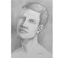 Male drawing  Photographic Print