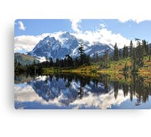 Mt. Shuksan, Picture Lake Metal Print