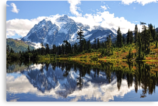Mt. Shuksan, Picture Lake by Emilie Trammell
