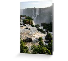 Iguazu Falls, Brazil, South America Greeting Card