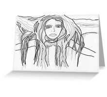 intensity sketch Greeting Card