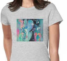 Armed with Petals and Colors Womens Fitted T-Shirt