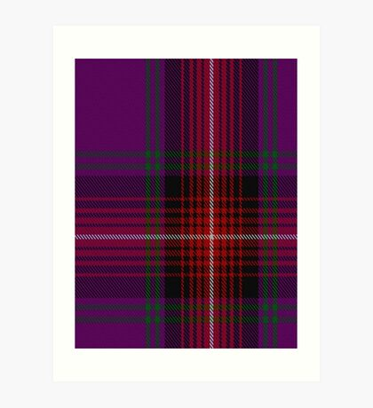 00369 Arran Fashion Tartan  Art Print