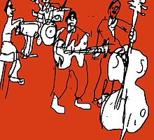 Band in Red by Stacey Lazarus