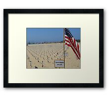 Santa Barbara Iraq Troop Memorial Framed Print