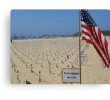 Santa Barbara Iraq Troop Memorial Canvas Print