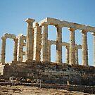 "Temple of Poseidon by Christine ""Xine"" Segalas"