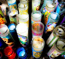 Bright Votives, Chimayo New Mexico by Denice Breaux