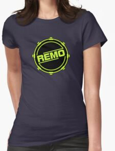 Green Black Remo In Drum Womens Fitted T-Shirt