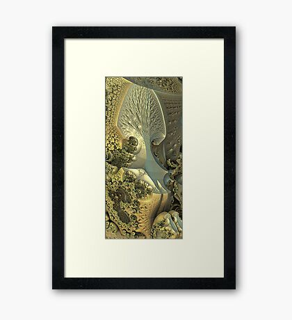 The last tree on the cliff Framed Print