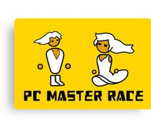 His and Her PCMR - PC Gaming Master Race Canvas Print