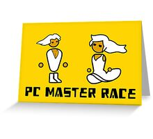 His and Her PCMR - PC Gaming Master Race Greeting Card