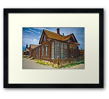 Bodie CA Our House In The Middle Of our Street Framed Print