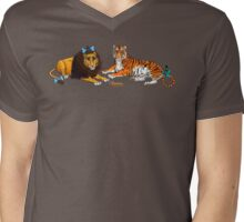 The Cowardly Lion and The Hungry Tiger by Kevenn T. Smith Mens V-Neck T-Shirt
