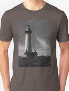 Lighthouse in B&W Unisex T-Shirt