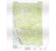 USGS Topo Map Washington Kalama 241728 1990 24000 Poster