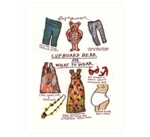 Pregnancy: Cupboard Bear on What to Wear Art Print