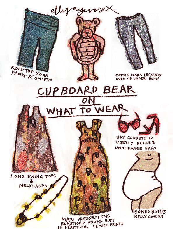 Pregnancy: Cupboard Bear on What to Wear by ellejayerose