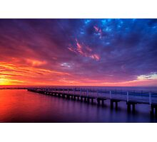 Wild sky at narrabeen Photographic Print