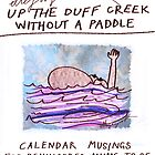 Calendar Cover: Up the Duff without a Paddle: Calendar Musings for Bewildered Mums by ellejayerose