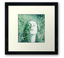 Creepy old garden lady Framed Print