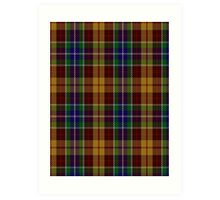 00373 Isle of Arran Tartan  Art Print