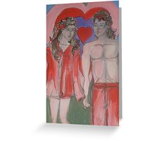 Valentines Sweethearts Greeting Card