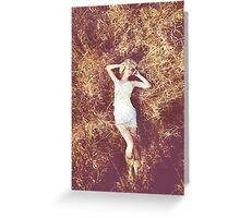 Field of Dreams - Love calm pretty girl autumn fashion erotic fine art beautiful Greeting Card