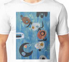 Balance On Blue Woodgrain Unisex T-Shirt