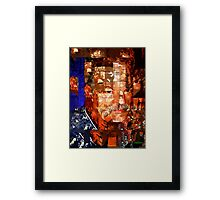Stained Glass Man Framed Print
