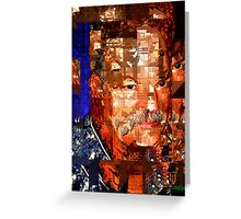 Stained Glass Man Greeting Card