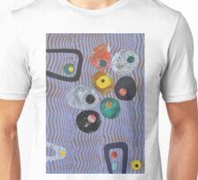 Pebbles On Wavy Purple  Unisex T-Shirt