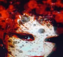 Red China Doll by Nathalie  Ferfoglia