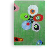 Pebbles On Green Weave Canvas Print