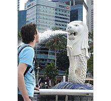 Merlion Singapore Fun Perception Water Fountain Photographic Print