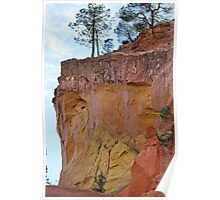Ocher cliffs Poster