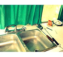 Won't you be a dear and finish the dishes? Photographic Print