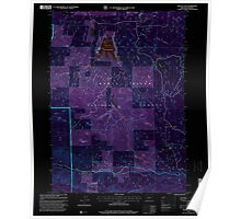 USGS Topo Map Oregon Willow Lake 282109 1997 24000 Inverted Poster
