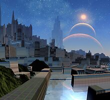 Downtown Jurasica City Central by SpinningAngel