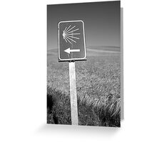 The familiar Camino marker Greeting Card