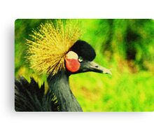 Gold crown. Canvas Print