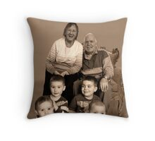 Great to be Great Grandparents Throw Pillow