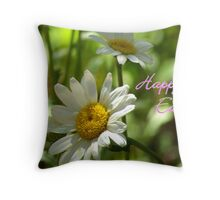 Daisy Notecard -  Happy Easter Throw Pillow