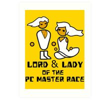 Lord and Lady of the Gloriouse PC Gaming Master Race Art Print