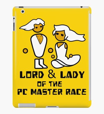 Lord and Lady of the Gloriouse PC Gaming Master Race iPad Case/Skin