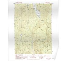 USGS Topo Map Oregon China Flat 279346 1986 24000 Poster
