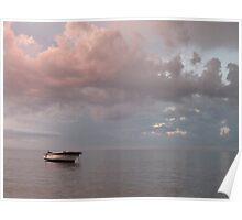 Pink Seascape Poster